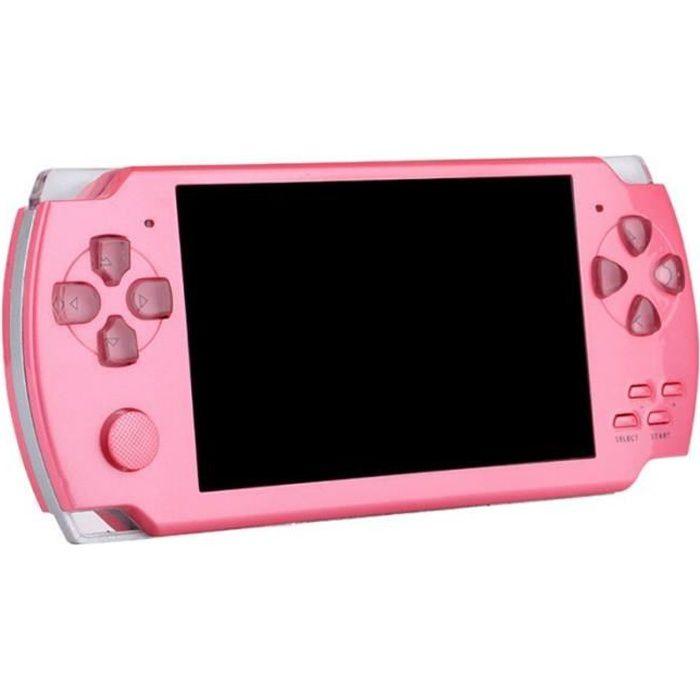 console de jeu portable écran 4.3 '' hd 2000 jeu classique console de jeu rétro 8 bits -Rose