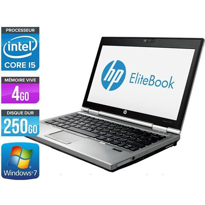 Ordinateurs portables Hp Elitebook 2570P Core i5 3360M 4Go 250Go