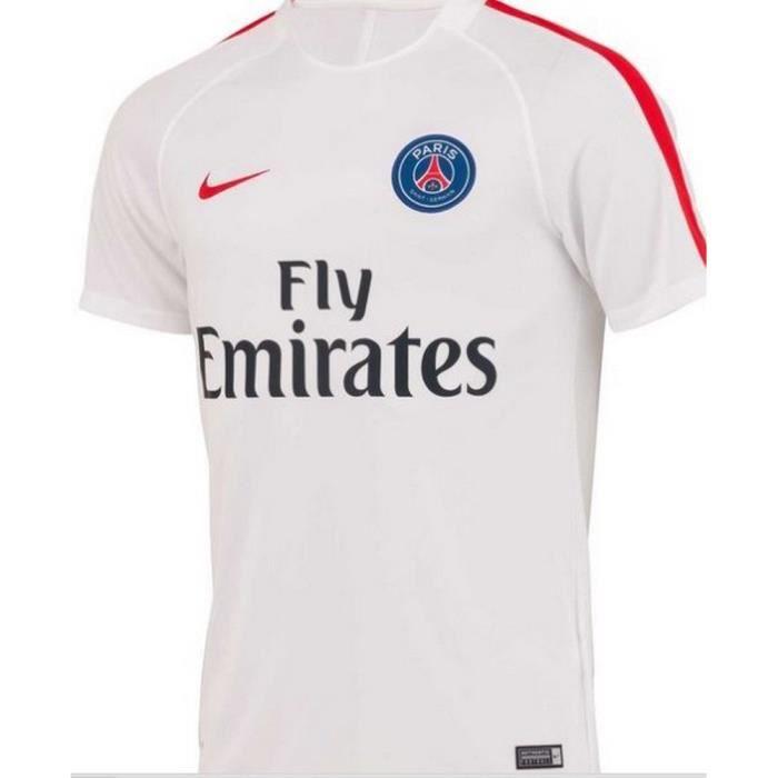 Maillot D'entrainement Nike Homme Paris Saint-Germain PSG Blanc Saison 2016-2017