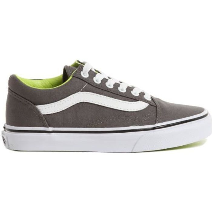 VANS Basket K OLD SKOOL (CANVAS) PEWTER - Enfant