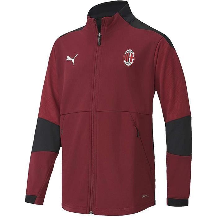 PUMA Veste de Football Junior Entraînement Veste Milan AC Rouge 152