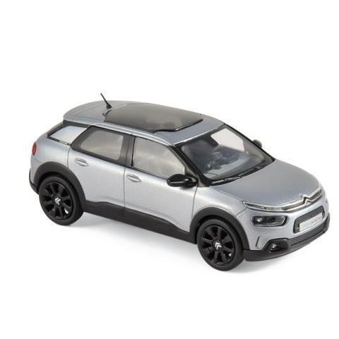 Miniatures montées - Citroen C4 Cactus gris alu/noir 2018 1/43 Norev