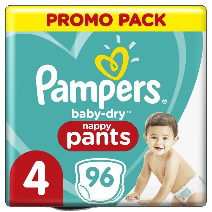 Pampers Baby-Dry Pants Couches-Culottes Taille 4, 96 Culottes