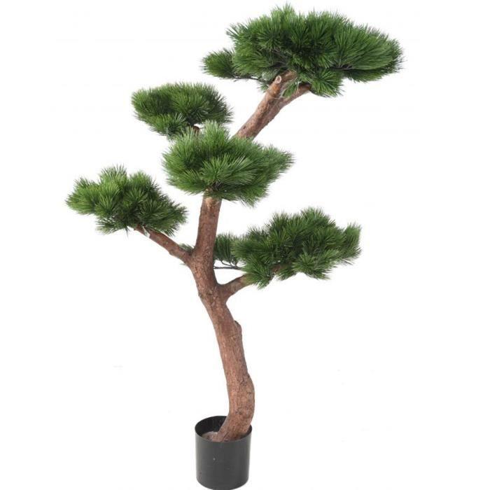Plante artificielle haute gamme Spécial extérieur - PIN artificiel BONSAI UV - Dim : 150 x 90 cm