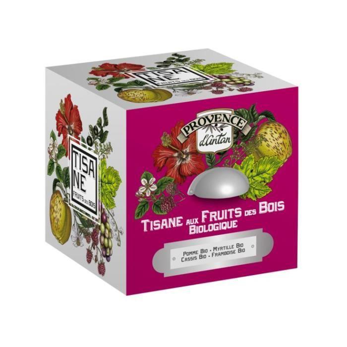 Provence d' Antan Tisane Fruits des Bois Bio Cube Métal 24 sachets