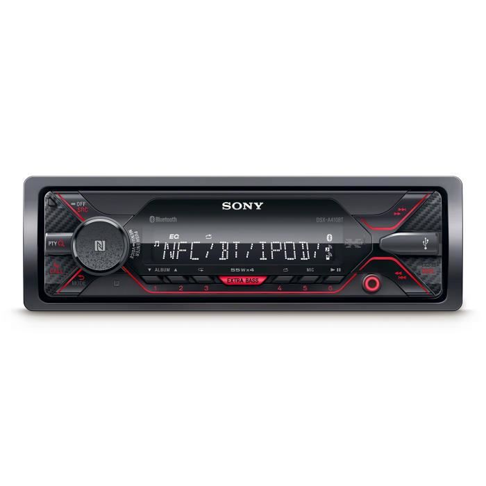 Sony dsxa41 0bt connecteur MP3 Autoradio avec Bluetooth, NFC, USB, AUX et iPod-iPhone Control Rouge Éclairage