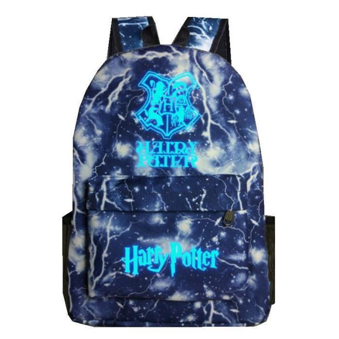 Harry Potter-Sac à dos Noctilucent Fluorescence-cadeau Noël anniversaire pour fils et fille,sac d'école-cartable FK05