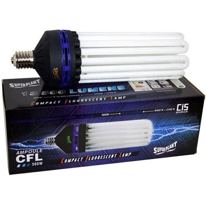 Ampoule CFL V2 Superplant 300 W V2 - Dual/Mixte 2100K + 6400K