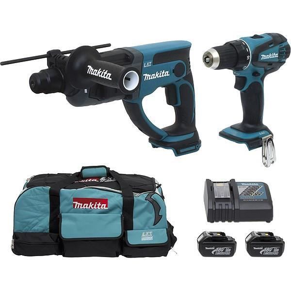 makita perceuse perforateur 2x18v 3ah li achat vente. Black Bedroom Furniture Sets. Home Design Ideas