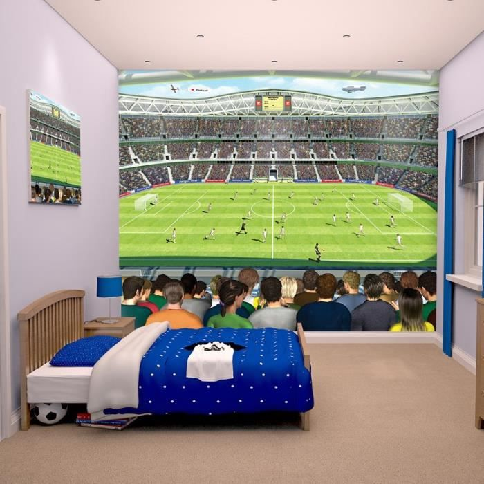 papier peint enfant room studio fresque murale football 2 45x3m achat vente coussin cdiscount. Black Bedroom Furniture Sets. Home Design Ideas