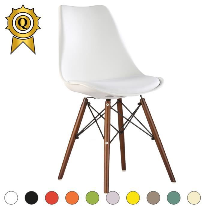 Eames Bois Scandinave Vernis 1 Chaise X Eiffel Inspiration Blanc mnwvN08O