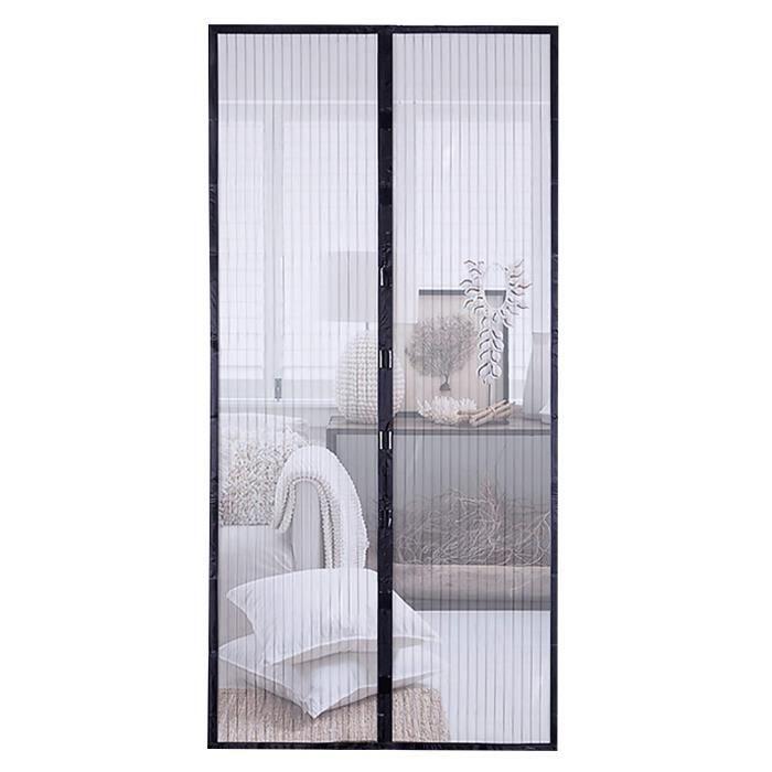 Flauschvorhang Blanc//Gris//Noir Rideau Moustiquaire Rideau chaleur protection