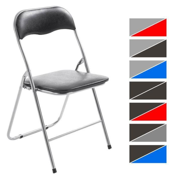 clp chaise de cuisine pliable felix pietement en metal siege en plastique chaise des invites pratique 8 couleurs au choix
