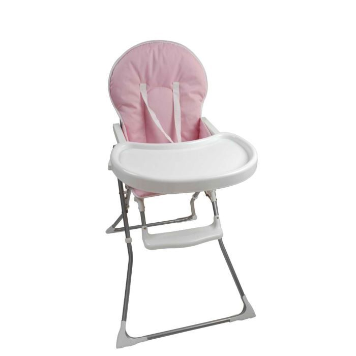 Chaise haute pliante rose achat vente chaise haute for Chaise haute bebe carrefour