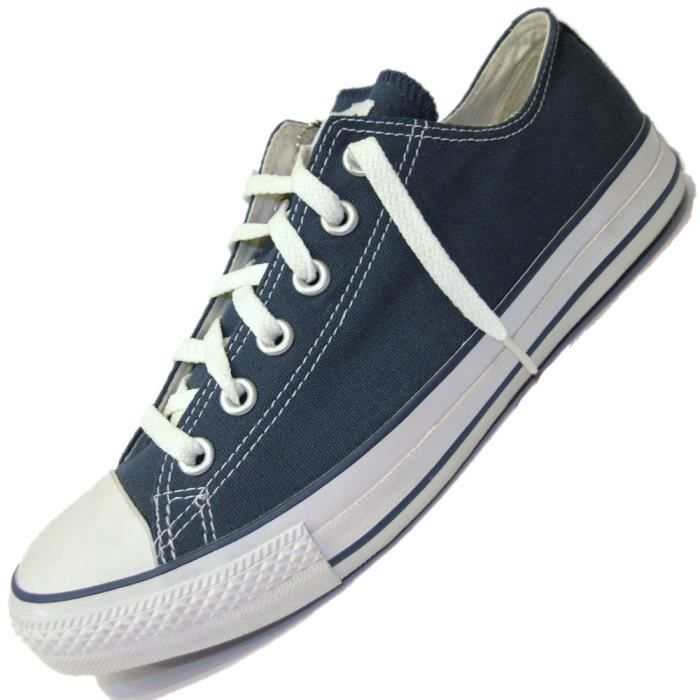 converse basket all star basse ox m9697 navy bleu marine bleu achat vente basket. Black Bedroom Furniture Sets. Home Design Ideas