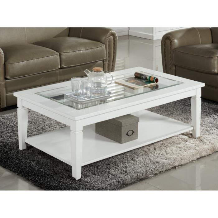 table basse guerande plateau en verre tremp pin blanc achat vente table basse table. Black Bedroom Furniture Sets. Home Design Ideas