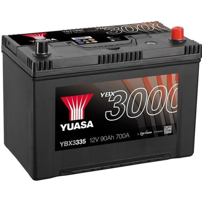 yuasa smf batterie auto 12v 90ah 700a achat vente. Black Bedroom Furniture Sets. Home Design Ideas