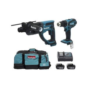 MAKITA Perceuse + perforateur 2x18V 3Ah Li