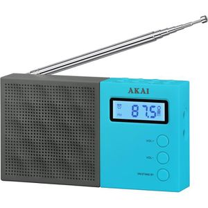 AKAI AR-76B Radio pocket Digital - Noir et Bleu