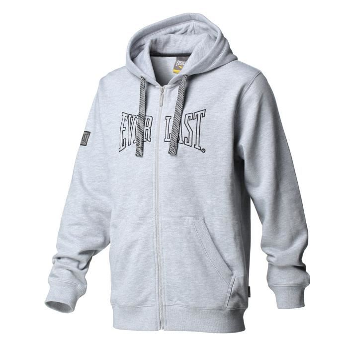 EVERLAST Sweat à Capuche Full Zip - Gris