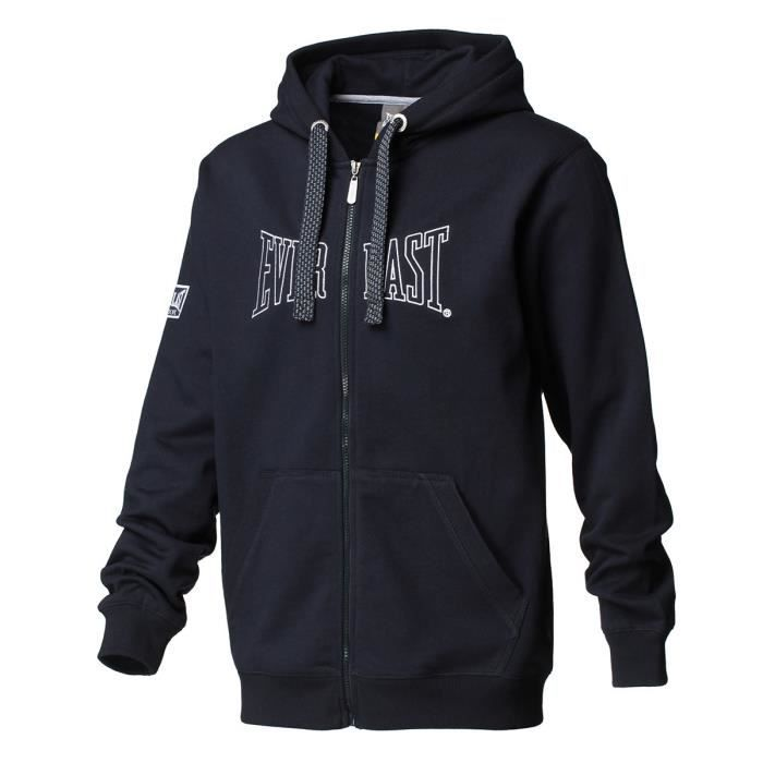 EVERLAST Sweat à Capuche Full Zip - Bleu Marine -