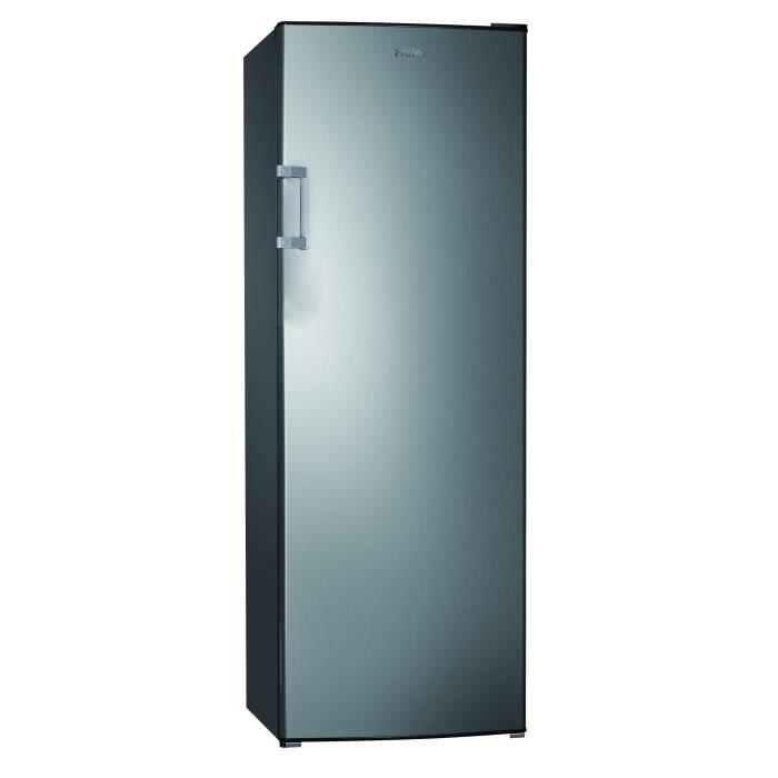 HAIER HUL-676S - Réfrigérateur 1 porte - 335L - Froid statique - A+ - L60 x H170 cm - Silver