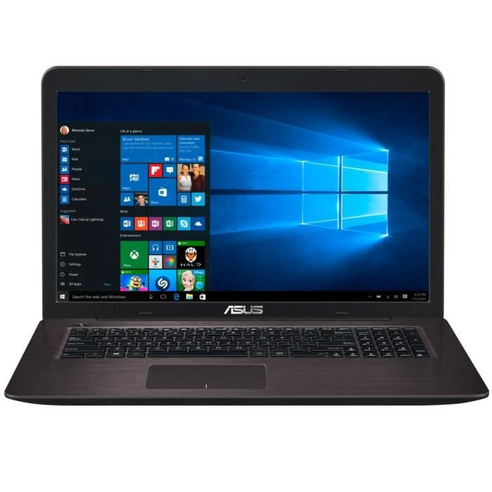 asus pc portable k756uv ty176t 17 3 8go de ram. Black Bedroom Furniture Sets. Home Design Ideas