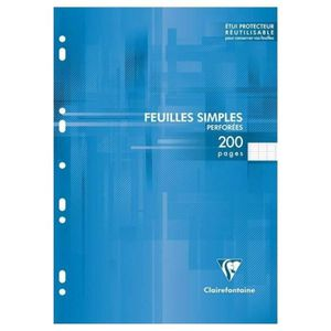 PAPIER IMPRIMANTE Clairefontaine 200 Feuilles Simples Blanches Perfo