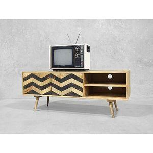 MEUBLE TV Meuble TV scandinave 130 cm