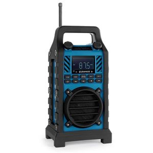 RADIO CD CASSETTE oneConcept 862-BT-BL - radio de chantier avec Blue
