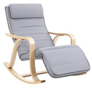 FAUTEUIL Rocking Chair Fauteuil à bascule avec Repose-pied