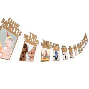 Bébé 1 an Guirlande fille 1-12 mois pour les photos d/'auto-installation