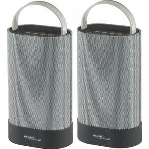 ENCEINTE NOMADE Duo de haut-parleurs stéréo et bluetooth ''MSS-200