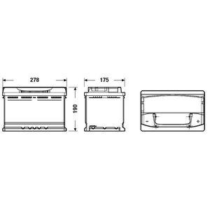 BATTERIE VÉHICULE FULMEN Batterie auto XTREME FA770 (+ droite) 12V 7