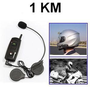 INTERCOM MOTO Kit Bluetooth casque Moto Main-libre Stéréo FM 1KM