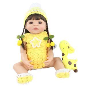 POUPÉE 55cm plein Silicone Reborn bébé poupée jouet pour