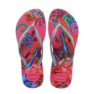 TONG Havaianas Slim Tropical Tongs Rose Orchidée Taille