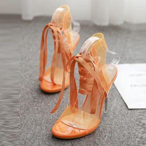 ESCARPIN yangledu®Jelly PVC ouvert Toed haute Chaussures à