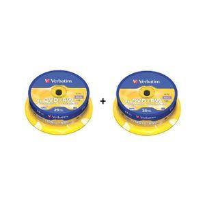 CD - DVD VIERGE 50 DVD+RW Verbatim CakeBox