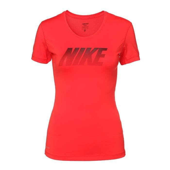 Nike T Shirt Pro Cool Femme Rouge Rouge Achat Vente T Shirt