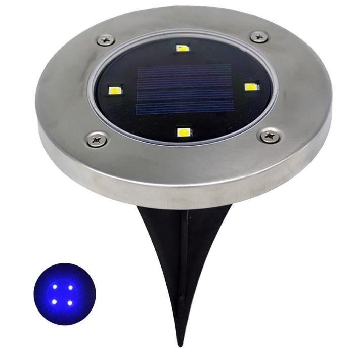 Spots Encastrables 4 LED Solaire étanche IP65 Extérieur Jardin @duo039