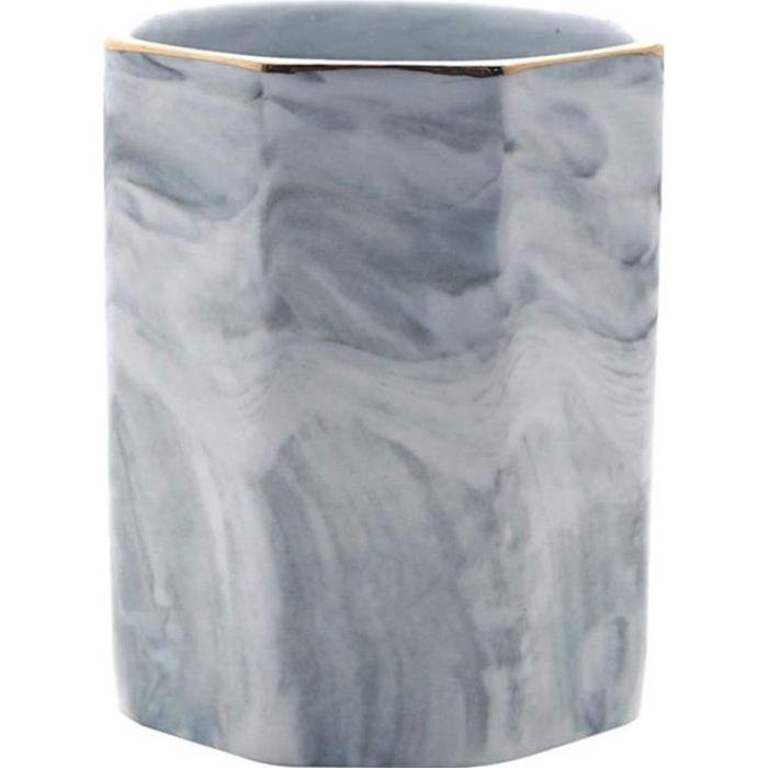 porte-ustensiles de cuisine cuillère caddy comptoir organisateur de cuisine en marbre naturel baguettes boîte ustensile pot (gris)