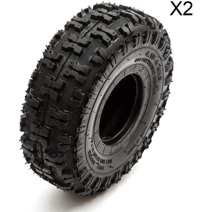 2 X Pneu 4.10-4 Noueux Hors Route Profond Chape Mini Moto Quad Atv 410-4 10.2cm