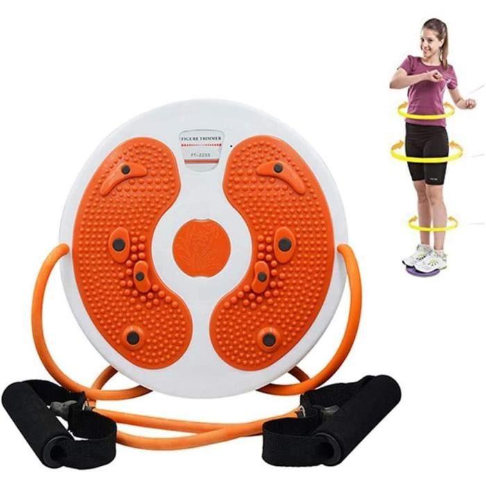 APPAREIL ABDO Disque de taille torsad&eacute - Ab Twister Board avec corde de Pilates, exercices d'a&eacuterobie, &eacutequip399