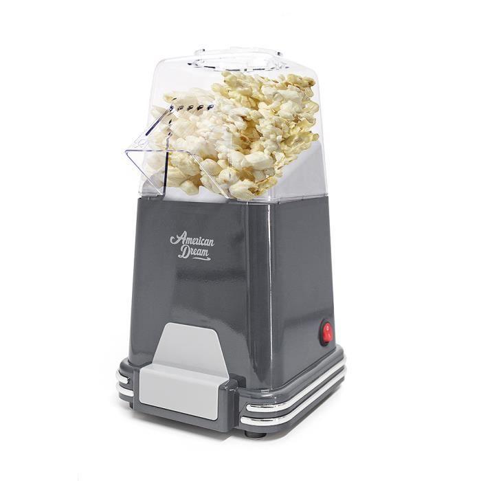 Balvi Machine pop corn American Dream Couleur Gris Palomitero cuisson à air chau