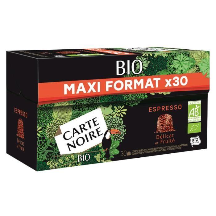 CARTE NOIRE Café Espresso - Bio - 30 capsules - 159 g