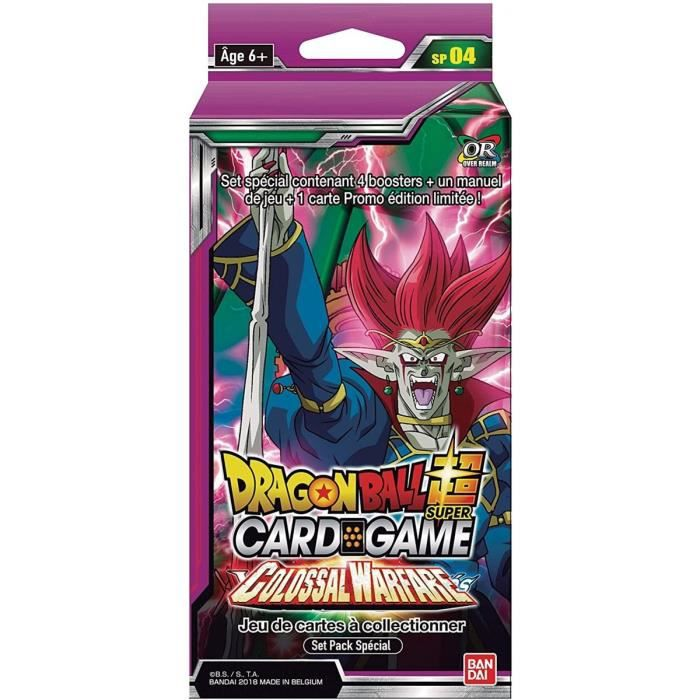 Dragon Ball Z Super : Deck Edition Speciale Serie 4 : Colossal Warfare - Carte A Collectionner Francaise