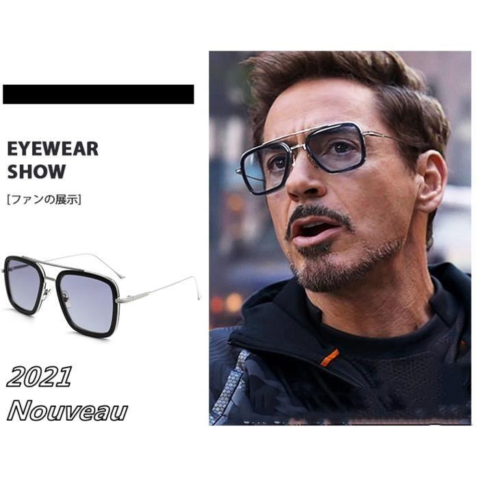 Lunettes de soleil du film Iron-Man accessoire de super-héros Peter Parker,Cosplay Edith