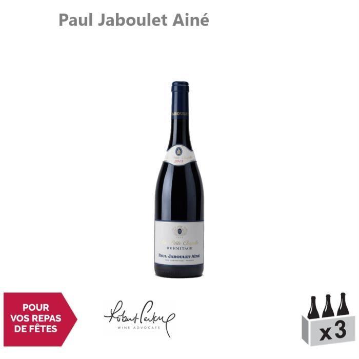 Hermitage La Petite Chapelle Rouge 2013 - Lot de 3x75cl - Paul Jaboulet Ainé - Vin AOC Rouge de la Vallée du Rhône - 91-100 Robert