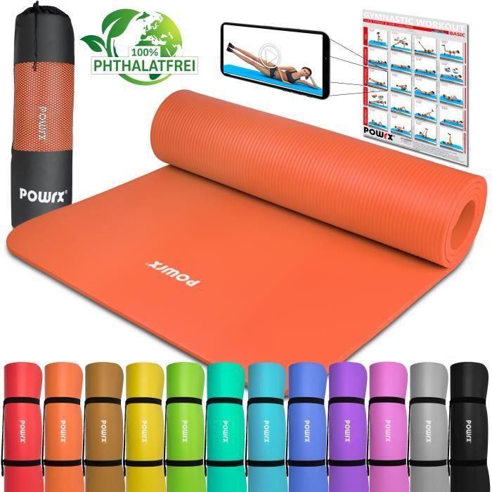 Tapis de gymnastique Tapis de yoga avec tapis d'entrainement I Entrainement 183x60x1cm vers. couleurs Couleur: Orange